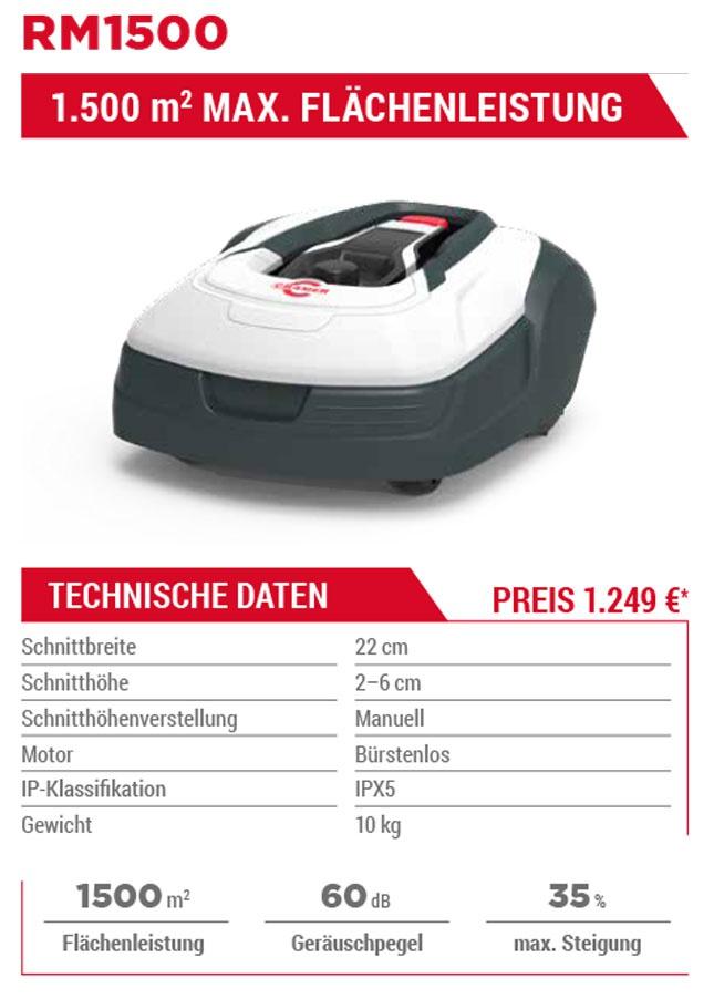 Aktuelles Angebot Cramer Mähroboter RM 1500